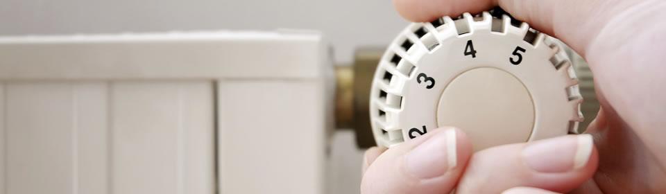draaien aan radiatorknop
